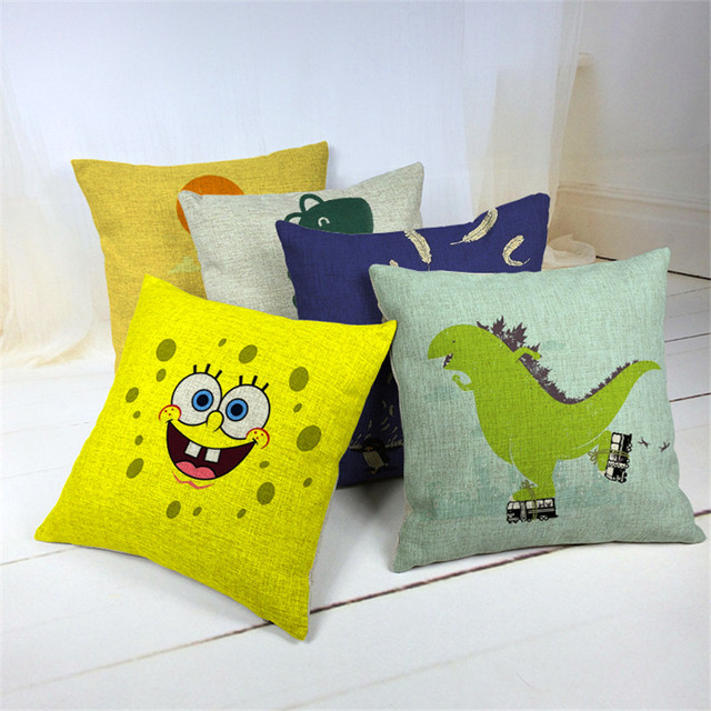 SpongeBob Polyester Cotton Blend Home Office Sofa Square Car Seat