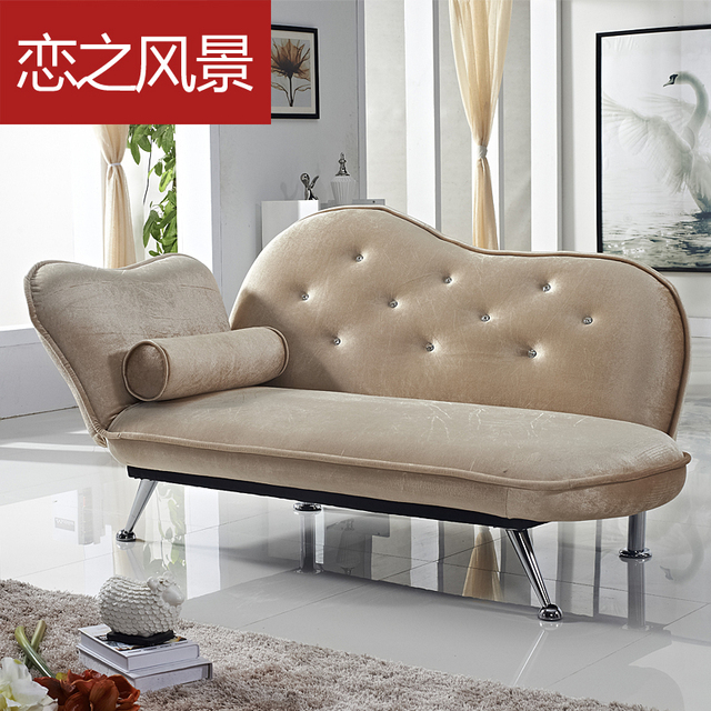 moderne minimalistische couture stof vouwen slaapbank ...