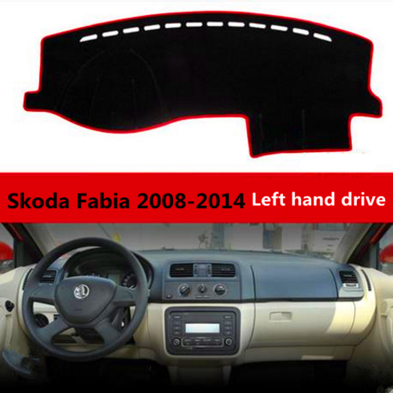 Taijs Left hand drive Car dashboard cover for Skoda Fabia 2008-2014 Polyester Fiber Auto ...