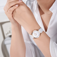 OLEVS Top Brand Watches Dress Women Fashion Watch 2017 White Leather Waterproof Quartz Wrist Watches Relogio