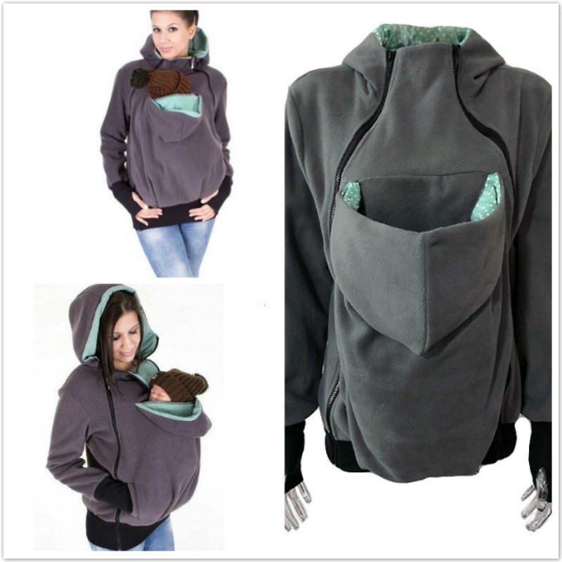 Hoodies Pregnancy Baby Carrier Jacket casaco for Moms Triple Multi functional Mother Kangaroo Sweater Coat Female Sweatshirt