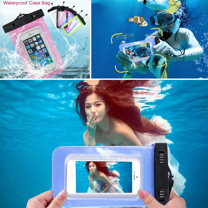 Waterproof Bag Universal Underwater for iPhone 6 6s 7 plus 5 SE S7 S6 S5 Sealed Waterproof case Pouch Phone Coque Covers Case