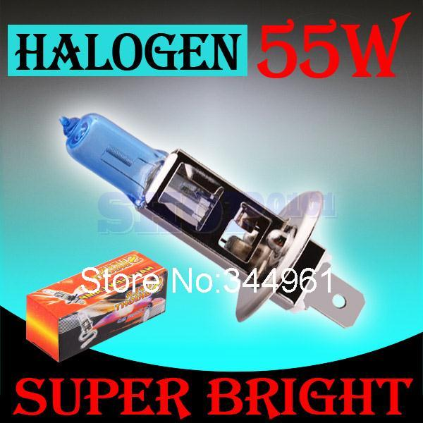 H1 55 W 12 V Супер яркие белые Противотуманные фары галогенные лампы высокого Мощность Автомобильные светодиодные лампы фар автомобиля фары авто D020