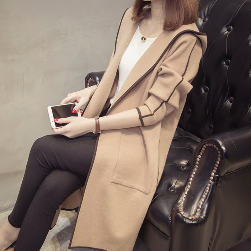 Longue gris Color 2018 marron photo Outwear Chandail Automne Poche Chandails allumette Noir Full bourgogne Patchwork Nouveau Femmes Manches Sweater Tricoté kaki Mince Tout Cardigan Manteau rARxrwqC