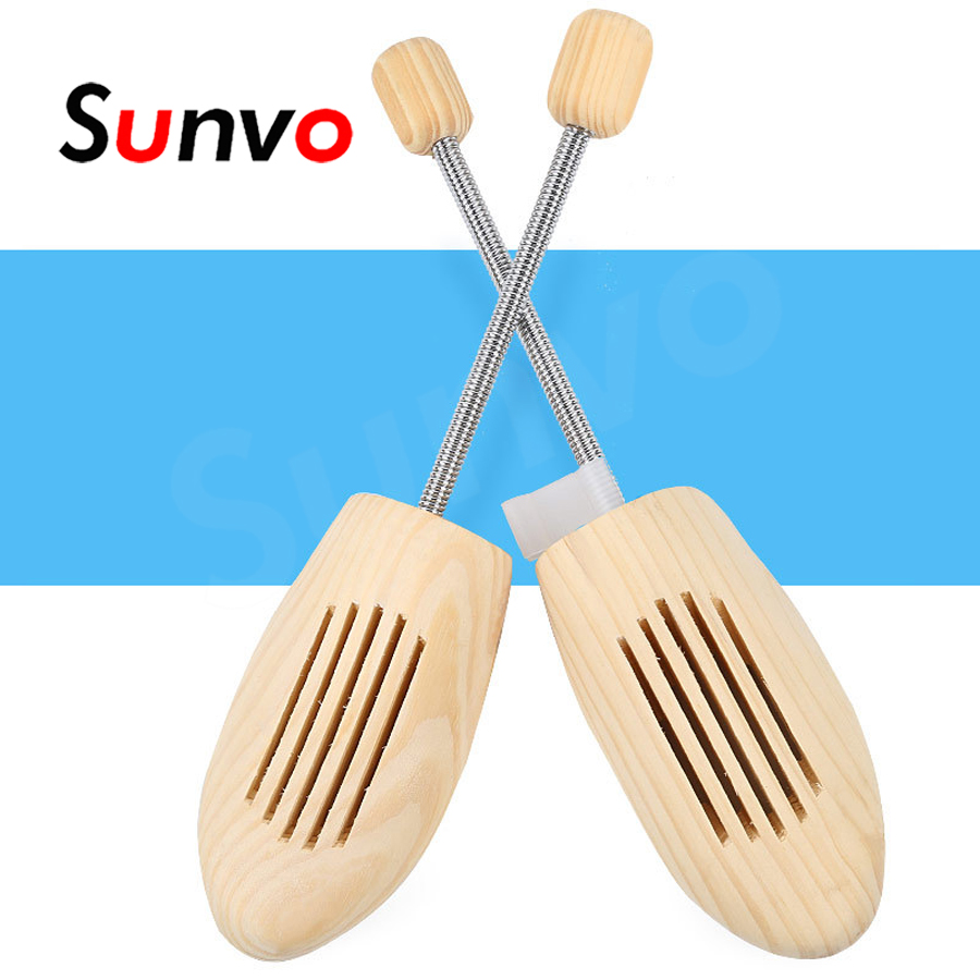 2PCS Wooden Shoe Tree High-grade Spring Wood Shoe Stretcher Keeper Expander Adjustable Support Fixed Shoe Shaped Tool Men Women