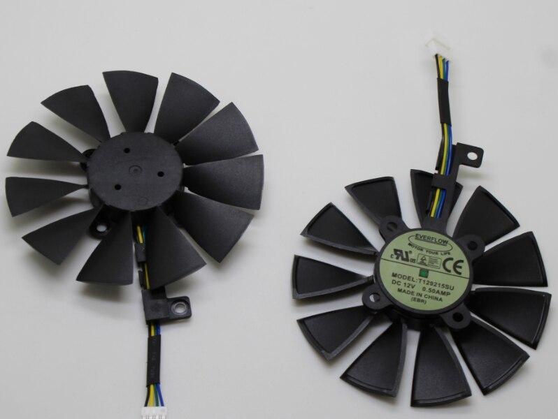 T129215SU 88mm 4Pin enfriador de los Fans para ASUS R9 390 390X RX580 GTX 980Ti 960g 970 de 1060 GTX1070 1080TI tarjeta gráfica ventilador de refrigeración nueva