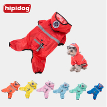 Hipidog Pet Clothes Dog Translucent Hat Raincoat Hooded Waterproof Overalls Jumpsuit Rain Suit For Small Yorkshire Chihuahua