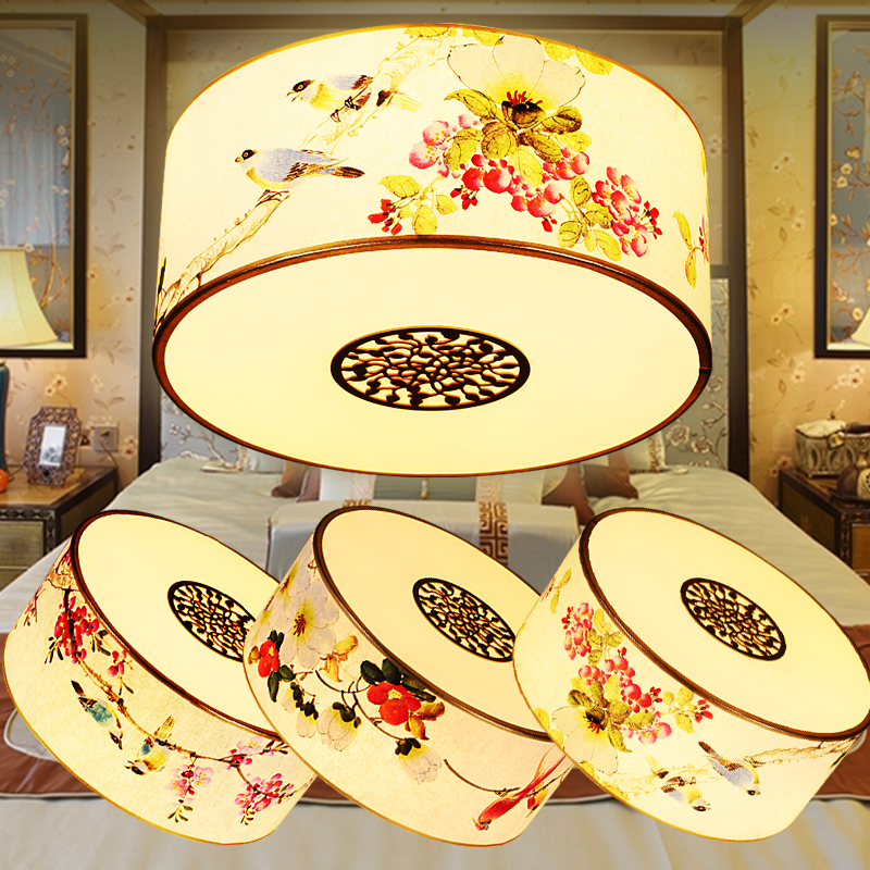 Chinese circular pattern ceiling lights/lamps simple antique restaurant bedroom living room personalized home lighting ZA ZS154