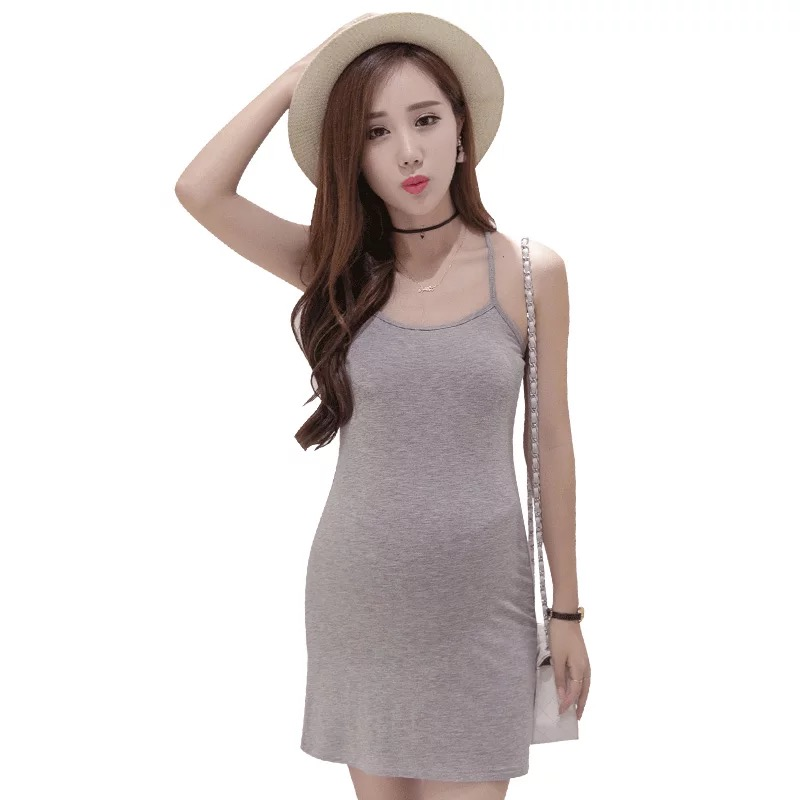 bf6d153c30b 2018 Stylish Women Solid Sexy maternity clothes Dress Black White Gray  Spaghetti Strap Lady Mini Bandage Dress pregnancy clothes-in Dresses from  Mother ...