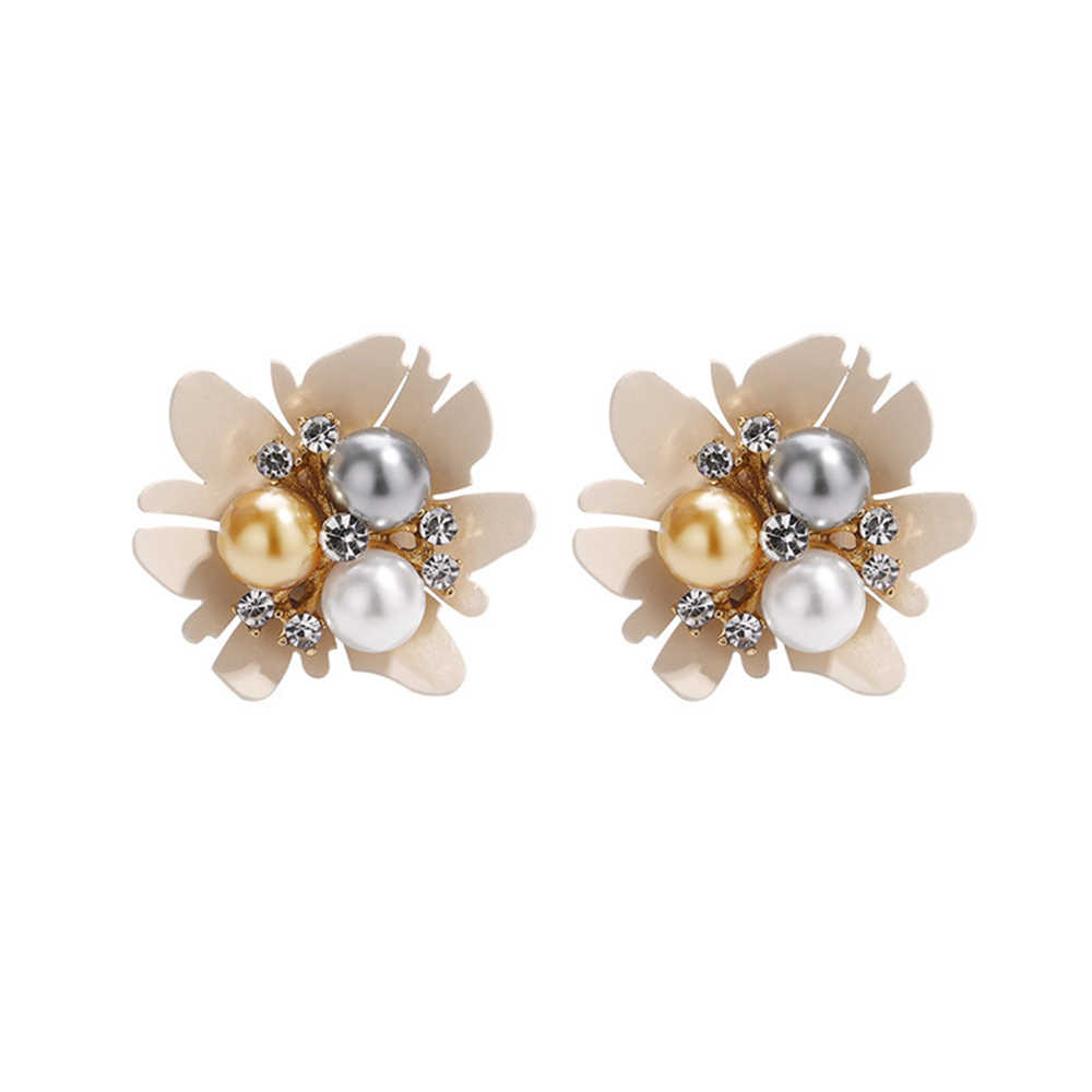 Seven Candy Pearl Flower Earrings For Women Simple Vintage Temperament Earrings Fashion Jewelry 2019 Personality Accessories