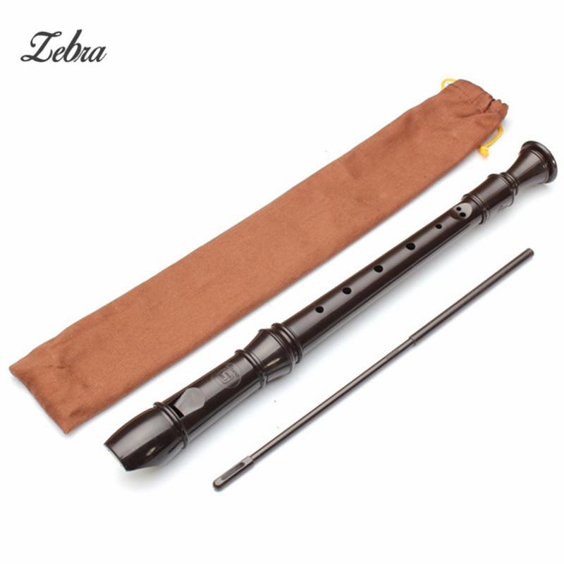 Zebra 8 Holes Brown German Soprano Recorder Harmonica Flute For Musical Instrument Lover Beginner Kids Gift Present