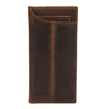 Crazy horse wallet long mens leather foreign trade wholesale gift direct selling 831-3
