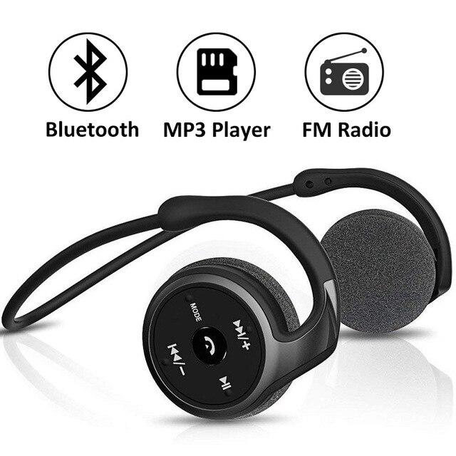 Fones de ouvido sem fio mp3 player