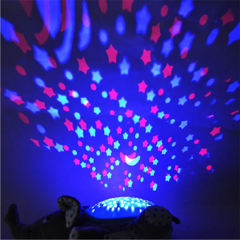 Winco Baby Sleep Plush Toys Led Lighting Stuffed Animal Led Night Lamp With Music Star Projector Light Baby Toys For Children #3