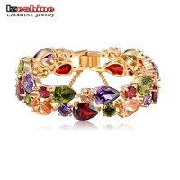 Bracelets Bangles 2014 New Design Colorful AAA Zircon Bracelet 18K Gold Rose Gold Plt Women Bracelet