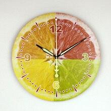Modern Lemon Wall Decoration Wall Clock With Waterproof Clock Face Fashion Beautiful Home Decoration Kitchen Wall Clock Watch