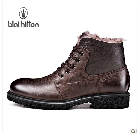 Hilton Plus Velvet Thermal Winter The Trend Of Male Leather Boots