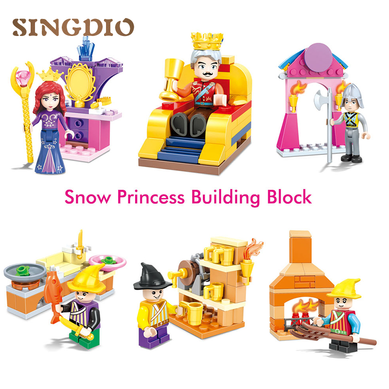Princess Prince Mermaid building blocks construction Baby toys bricks educational toys for Children blocks compatible with duplo building blocks fire story compatible with diy toys creative educational xmas duplo 65pcs classic toys educational baby toy