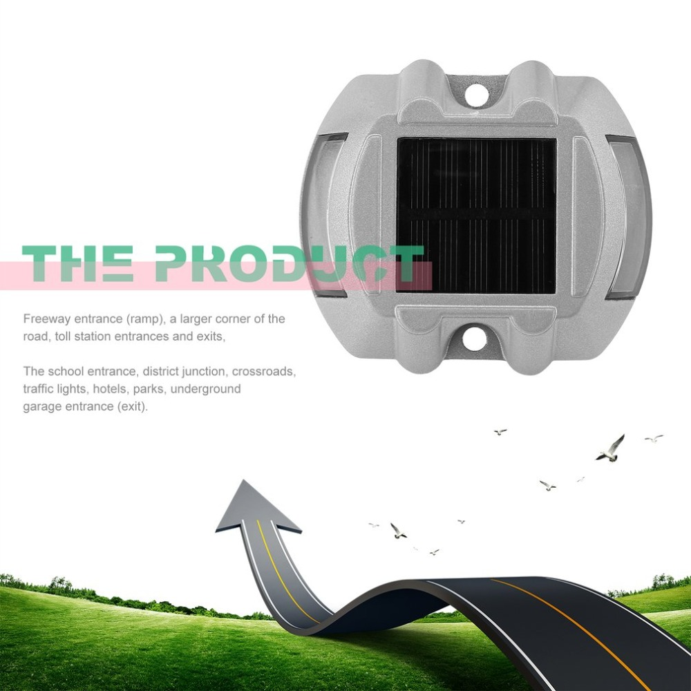 New Solar Power 6 LED Outdoor Waterproof Driveway Pathway Light Road Step Lamp ^