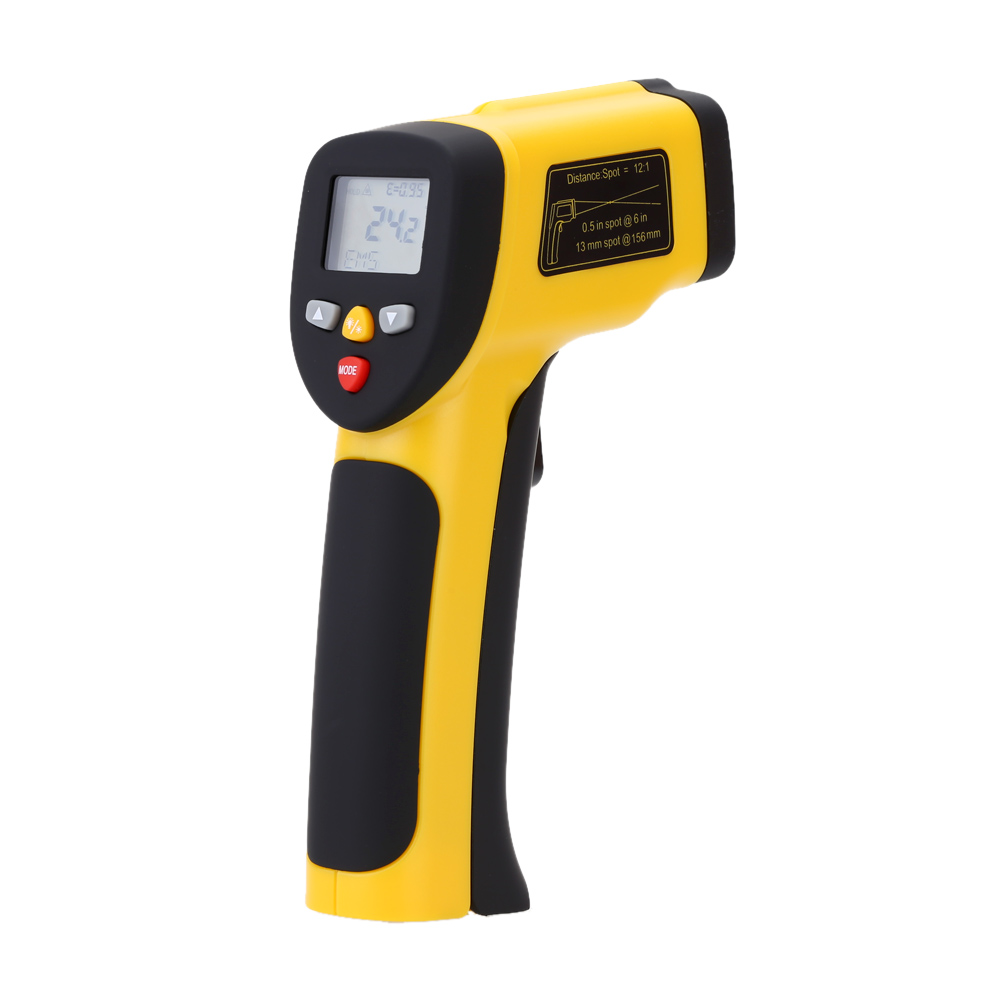 Dual Laser Non-contact IR Infrared Thermometer Digital Temperature Tester Pyrometer W/ LCD Backlight Range -50~1050( -58~1922F) 0 6 lcd portable non contact infrared thermometer white 50 220°c range