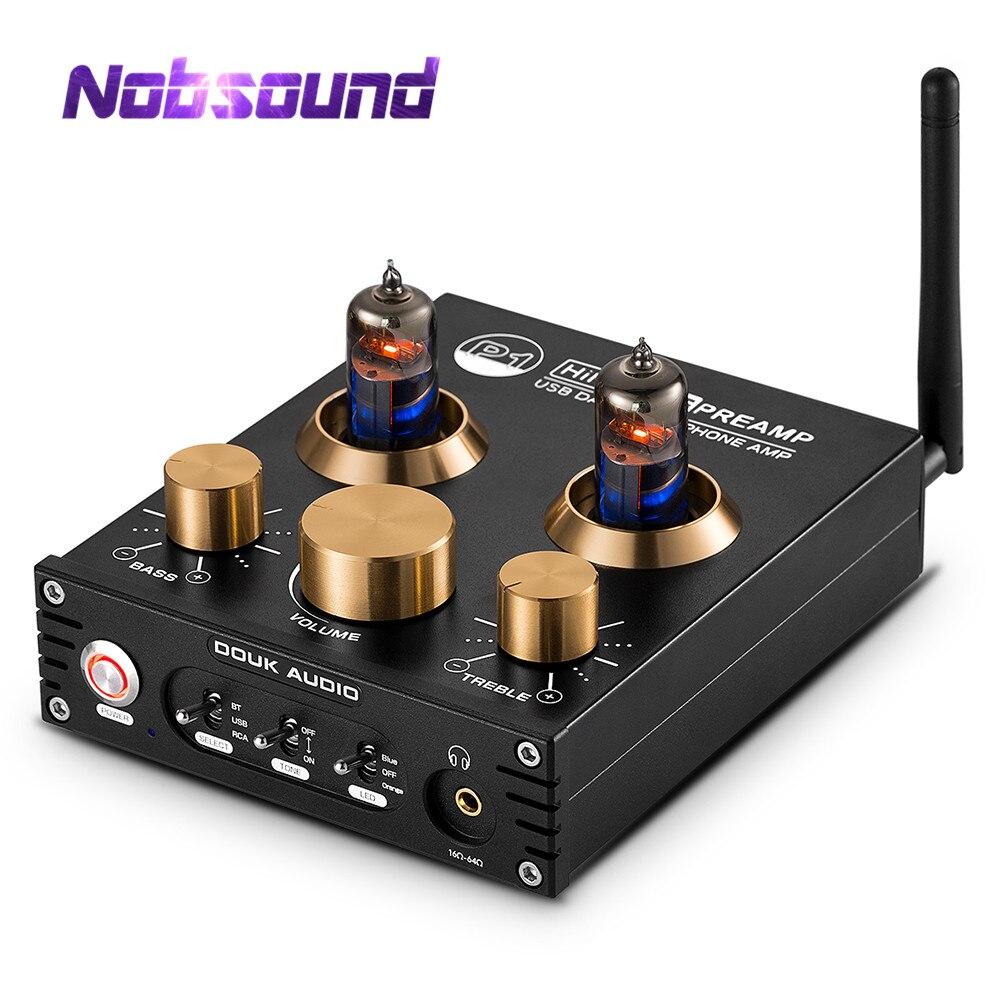 Nobsound HiFi Bluetooth 5.0 6J5 Valve Tube préamplificateur basse stéréo Audio casque amplificateur avec USB DAC APTX