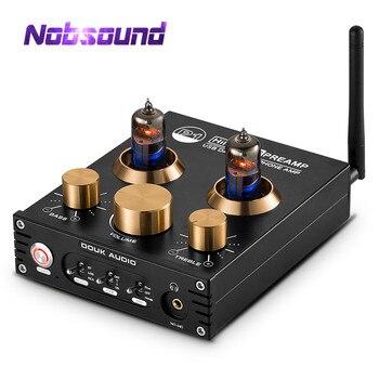 Nobsound HiFi Bluetooth 5.0 6J5 Vana Tüp Preamplifikatör Bas Stereo Ses kulaklık amplifikatörü USB DAC APTX|Amplifikatör|Tüketici Elektroniği -