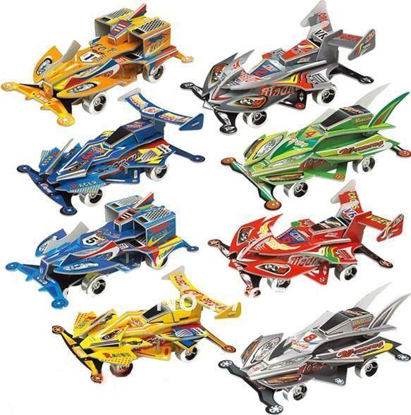 DIY Models,Home Adornment 3D puzzle car models set ,Paper craft,racing Card model