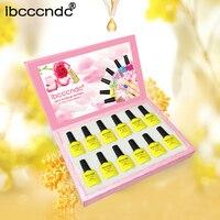 12 Pcs Yellow Series UV Gel Nail Polish 10ML Gel Vernis Semi Permanent Nail Primer Gel Varnishes Lacquer Gelpolish Gift Box