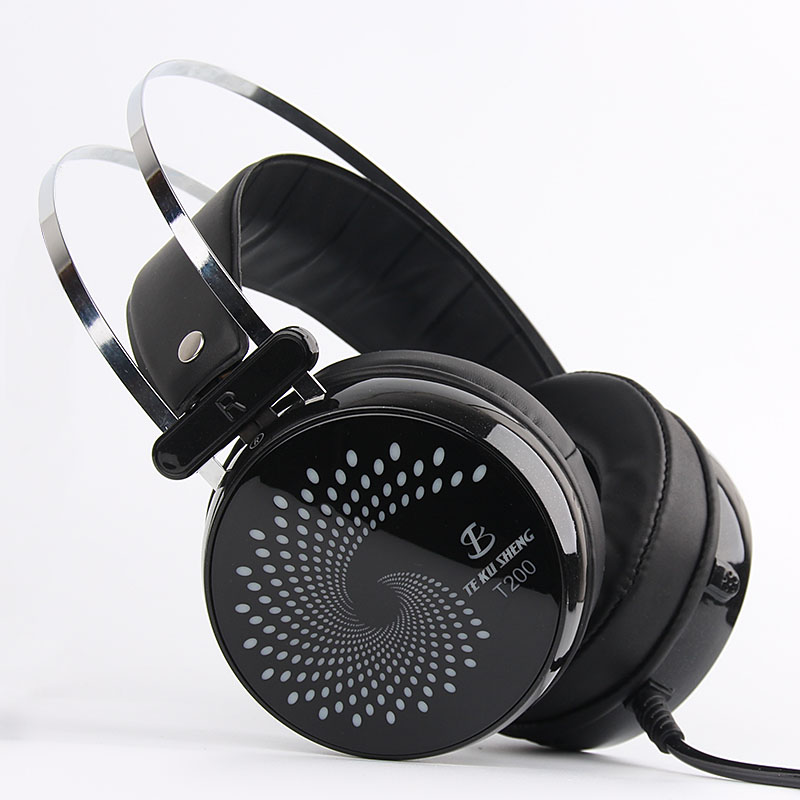 Wire Headphones Headband Colorful Lights With Microphone USB 3 5mm Internet Cafes Dedicated Game PC Dedicated