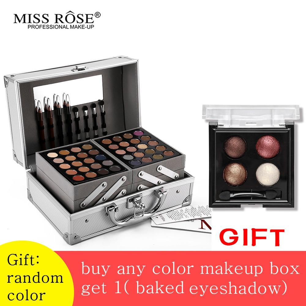Мисс Роуз пудра Макияж комплект матовая & Shimmer Палитра теней блокбастер профессиональный макияж комплект читая бронзатор