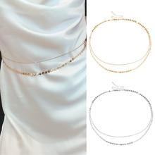 Lacoogh Wholesale Fashion Women Multi Layer Waist Body Chain Belt Waistband Clothes Decoration Jewelry Body Simple Waist Chain цена и фото