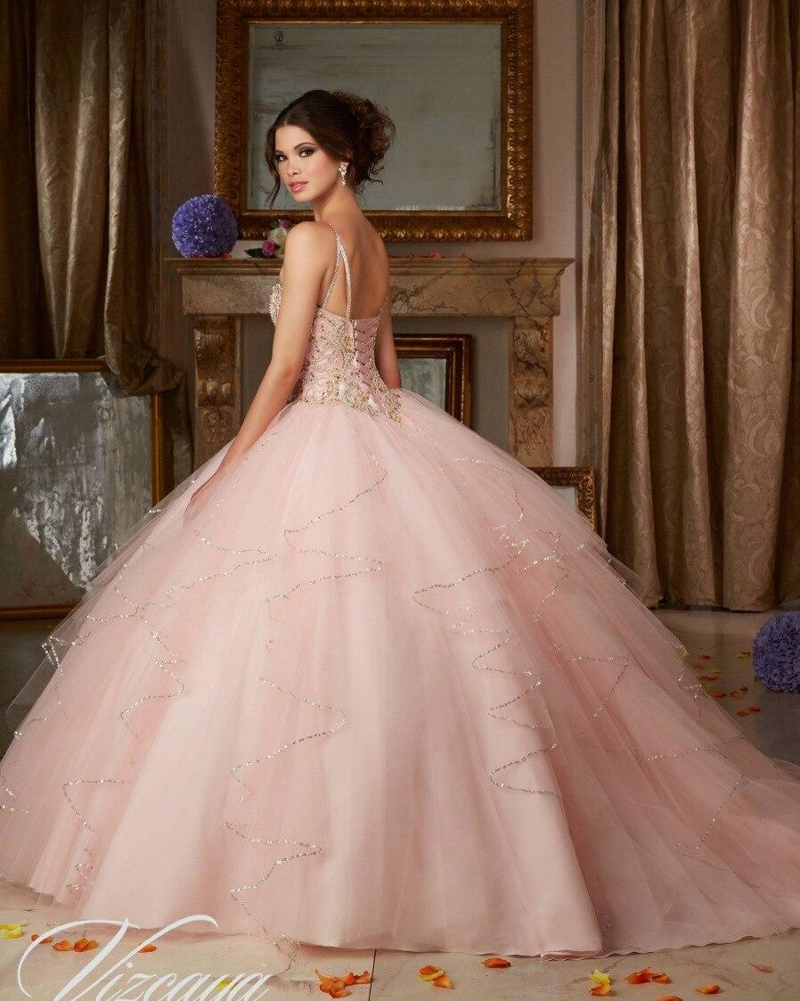 Popular de la princesa puffy vestido de bola de coral quinceañera ...