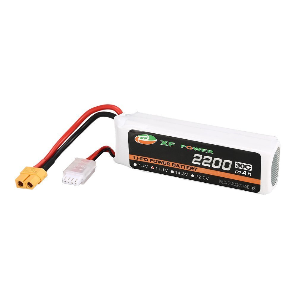 XF POWER 11.1V 2200mAh 30C 3S 3S1P Lipo Battery XT60 Plug Rechargeable For RC FPV Racing Drone Helicopter Car Boat Model image