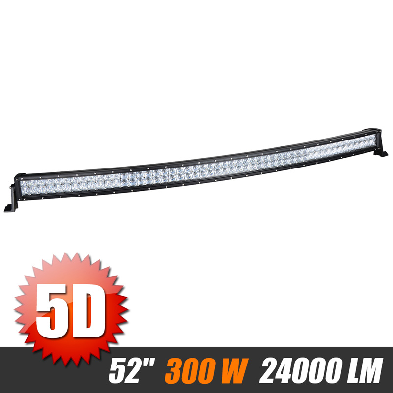 52 inch 500W 5D Curved Offroad LED Light Bar Combo Beam Work Light Fog Light For Jeep Wrangler Truck Tractor ATV SUV 4x4 4WD UAZ sufemotec 5d 14 22 32 42 52 500w led light bar straight combo beam driving lamps for off road truck 4x4 4wd suv atv