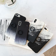 Leopard alphabet geometric phone case for iPhone X XS XR XSMax 8 7 6 6S PluS ring bracket hard shell drop protection cover