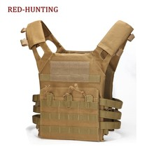 Wholesale Tan Outdoor Fishing Tactical Carrier JPC Vest Military Body Armor Plate Magazine Airsoft Paintball Vest Outdoor Gears(China)