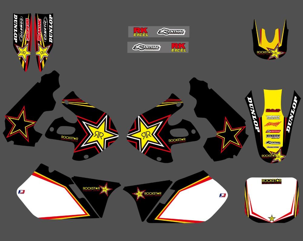 H2CNC Motorcycle Graphics & Background Decal Sticker For Suzuki RM125 RM250 1999 2000 RM 125 250 Dirt BikeH2CNC Motorcycle Graphics & Background Decal Sticker For Suzuki RM125 RM250 1999 2000 RM 125 250 Dirt Bike