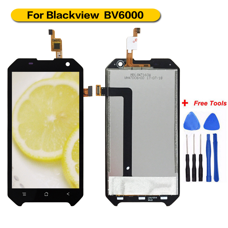 For Blackview <font><b>BV6000</b></font>/BV6000S <font><b>LCD</b></font> Display+Touch Screen 100% Tested Screen Digitizer Assembly Replacement 4.7 inch <font><b>LCD</b></font> image