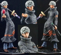 ALEN Anime One Piece NEW WROLD Trafalgar D Law High Quality PVC Action Figure Collection Model Toy 30CM