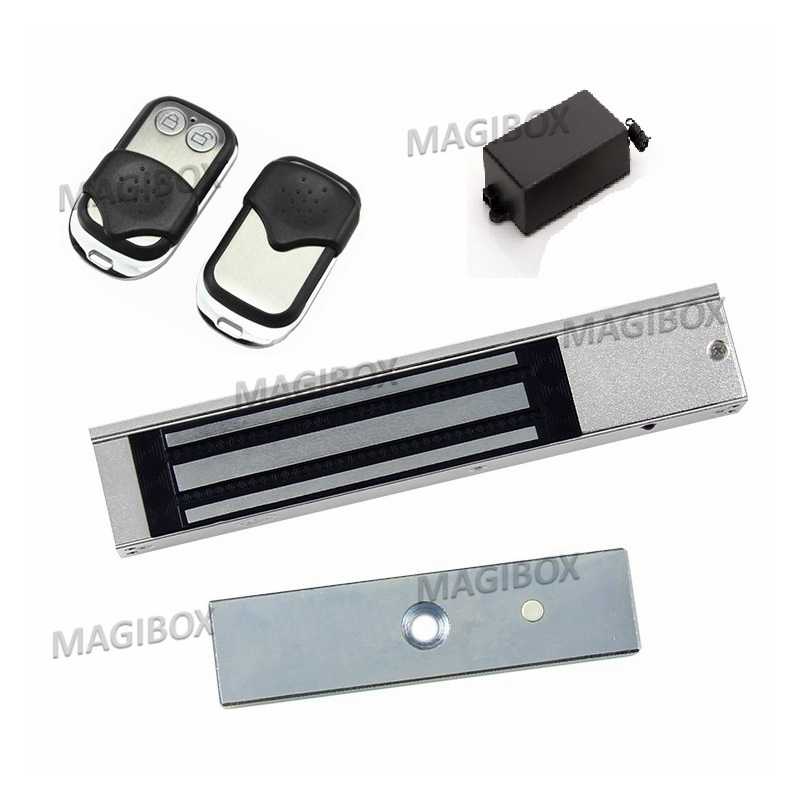 180KG (350LB) 12V/24v Single Door Electric Magnetic Electromagnetic Lock  For Door  Access Control+ 2 Remote Switch