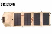 Ggx энергии Водонепроницаемый 7.2 Вт 5 В Портативный складной Моно солнечный Панель Зарядное устройство USB Выход контроллера обновления для телефонов Iphone psp MP4