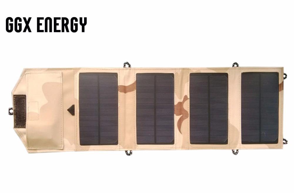 GGX Wasserdicht ENERGIE 8 Watt 5 V Tragbare Klapp Mono Solar Panel Ladegerät USB Output Controller Pack für Handys iPhone PSP MP4