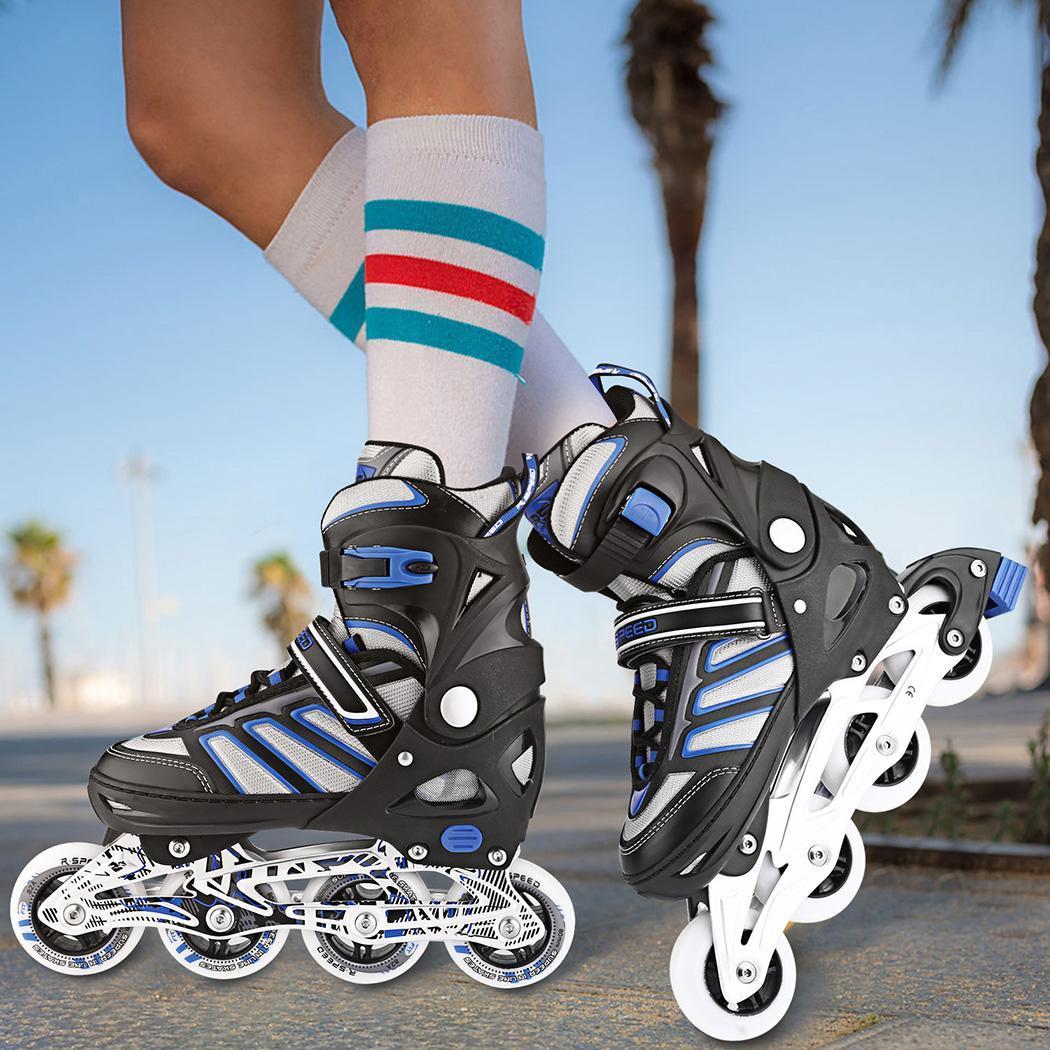 Skate S6 patins à roues alignées Slalom professionnel chaussures de patinage à roulettes adultes patins libres coulissants respirant en ligne Cool taille PU