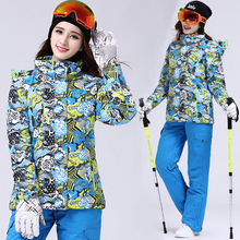 5 Colors 2016 Women Ski Skiing Suit Winter Sports Outdoor Snowboard Snowboarding Jacket Snow Wear Ski Jacket Sets Pants+Jackets