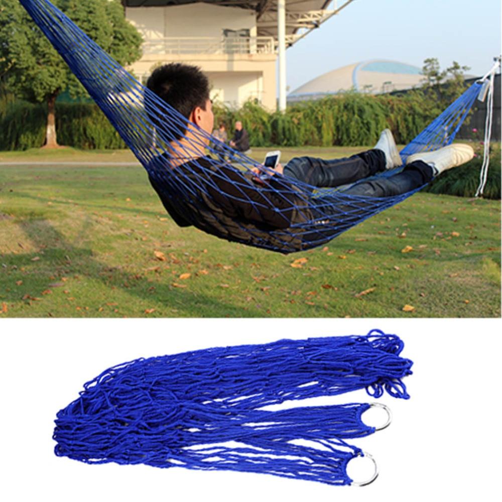 Outdoor Travel Camping Hammock Garden Portable Nylon Hang Mesh Net Sleeping Bed Wholesale