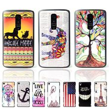 For LG G2 Ultra Thin Amazing Funny Cartoon Pattern Matte Hard Plastic Back Case for LG G2 D802 Cell Phone Protective Cover Bags