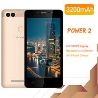 LEAGOO POWER 2 Face ID Fingerprint Smartphone 2GB+16GB Dual Camera 3200mAh Android 8.1 MT6580A Quad Core 5.0 HD Mobile Phone