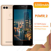 "LEAGOO POWER 2 Face ID Fingerprint Smartphone 2GB+16GB Dual Camera 3200mAh Android 8.1 MT6580A Quad Core 5.0"" HD Mobile Phone"