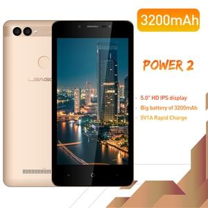 "Image 2 - Leagoo Power 2 Gezicht Id Vingerafdruk Smartphone 2Gb + 16Gb Dual Camera 3200Mah Android 8.1 MT6580A Quad core 5.0 ""Hd Mobiele Telefoon"