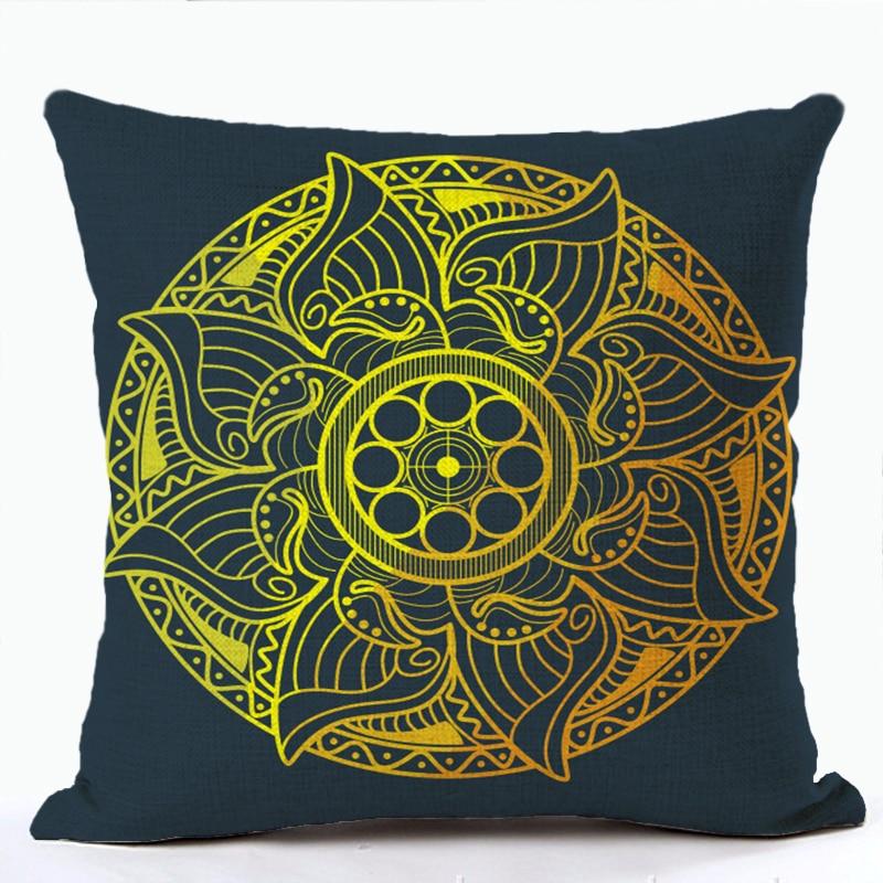 Decorative Mandala Pillow Case 45*45 Cotton Linen Cushion Covers Home Decor Throw Pillows Bohemia Chair Pillow Covers For Sofa Power Source
